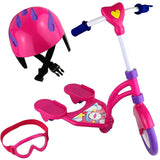 Beverly Hills Hot Pink Scooter Set With Matching Protective Gear Accessories, For 18 Inch Doll