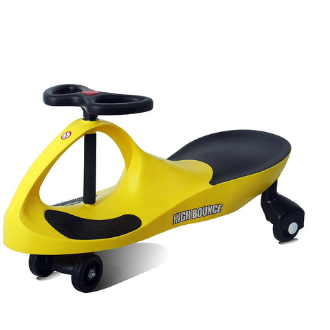 High Bounce, Rolling Coaster, Wiggle Race Plasma Car, Premium Scooter (Yellow)