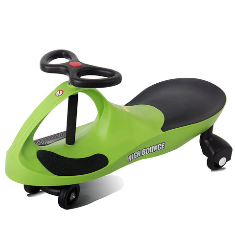 High Bounce, Rolling Coaster, Wiggle Race Plasma Car, Premium Scooter (Green)