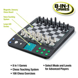 Voice Master Electronic Chess and Checkers Set with 8-In-1 Board Games - Toys 2 Discover - 2