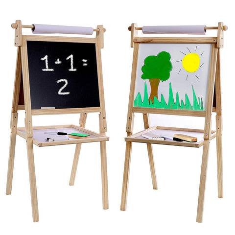 Wooden Easel With Accessories