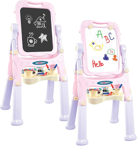 2 in 1 Magnetic Drawing Board Easel