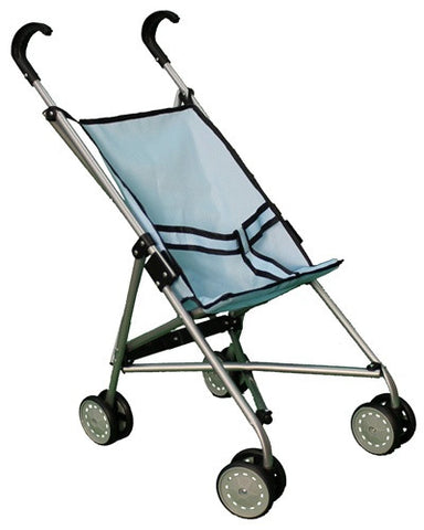 Blue Umbrella Doll Stroller with Swiveling Wheels - 9302B