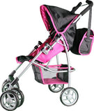 Mommy & Me Doll Stroller Swiveling Wheels with Free Carriage Bag 9351A - Toys 2 Discover