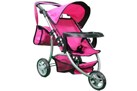 Mommy & me Doll Stroller with Tray & free carriage bag #9377B-T