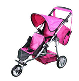 Mommy & Me Twin Doll Jogger 9669DL with Free Carriage Bag - Toys 2 Discover