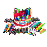 Spinning Art Caddy with Set of Crayons, WASHABLE Markers and Glitter Glue 151 Piece Set