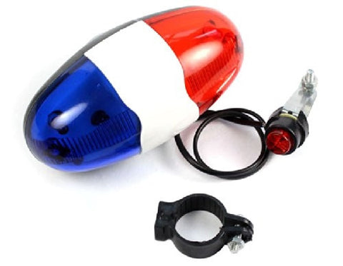 Police 4-Melody Bicycle Power Horn Siren.