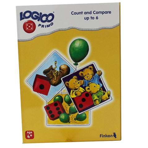 LOGICO Educational Learning Cards, Count/Compare, Ages 4+