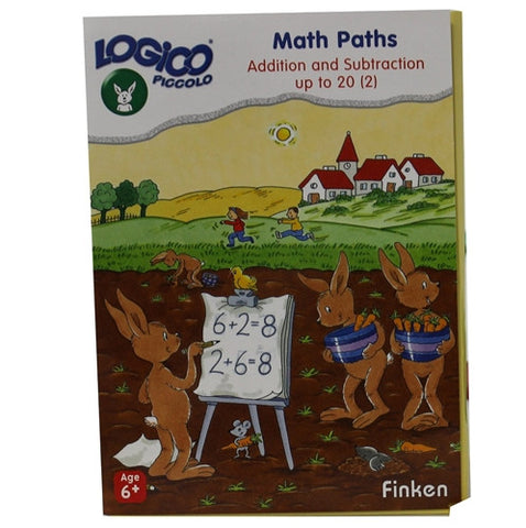 Set of 16 award wining LOGICO PICCOLO learning cards Math Paths Addition & subtraction 1-20 (vol 2)