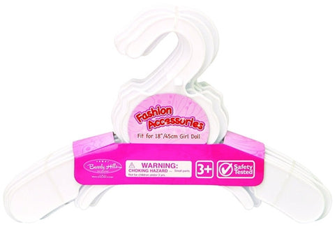 Beverly Hills, 10 Plastic Hangers, Fits 18