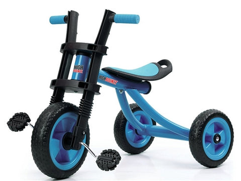 High Bounce Extra Tall Tricycle Ages 3-6 BLUE