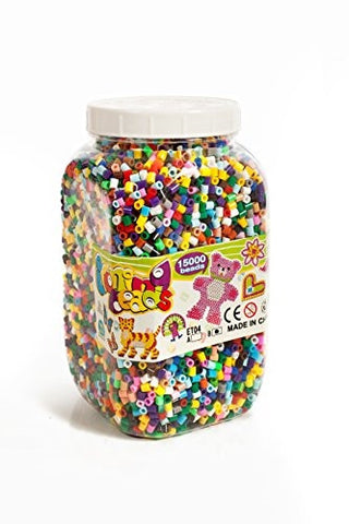 Ironing beads, Arts & Craft, Plastic Jar, 15,000 pieces