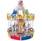 IQ Toys, Carousel Building Metal Model, Lights & Music 1423 pcs - Toys 2 Discover