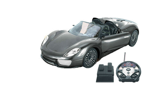 Top Speed Super large 1:10 RC car with steering wheel remote and foot pedal, Full function