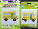 Mostaix, Mosaic Art,  School Bus, 266 Stickers - Toys 2 Discover