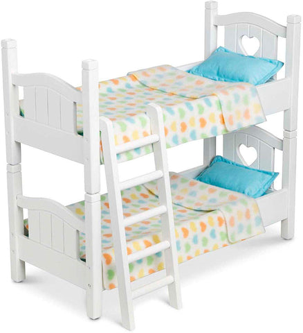 Melissa & Doug Wooden Play Bunk Bed for Dolls