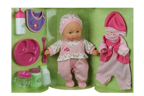 Mommy & Me, 12'' Doll, Feeding Tray/Bottle & Outfit