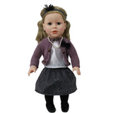 "Beverly Hills 18"" Doll with Blonde Hair, Dressed in a Glittery Skirt and Purple Cardigan"