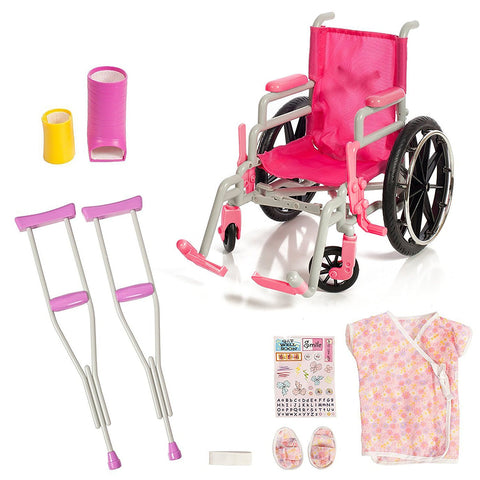 Beverly Hills, Wheel Chair/ Crutches Set, Fits 18
