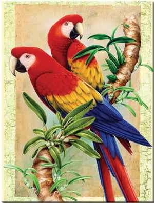 Paint By Number Bamboo & Parrots  8.75