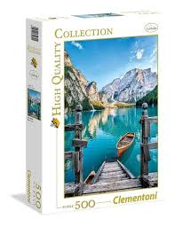 Braies Lake - 500pc Jigsaw Puzzle by Clementoni