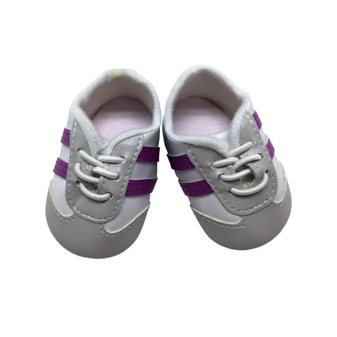 Grey and Purple Lace Up Sneakers for 18