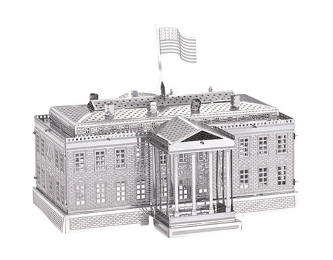3D Metal Works Model, White House, Laser Cut Puzzle