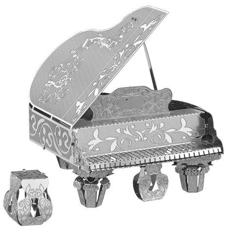3D Metal Works Model, Grand Piano, Laser Cut Puzzle