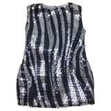 "Black and Silver Sequin Dress for 18"" Dolls (Doll not included)"