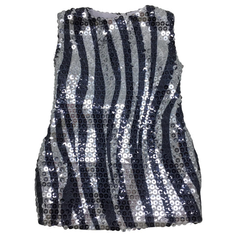 Black and Silver Sequin Dress for 18