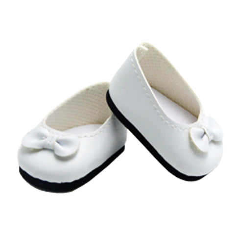 White Flats with Bow for 18