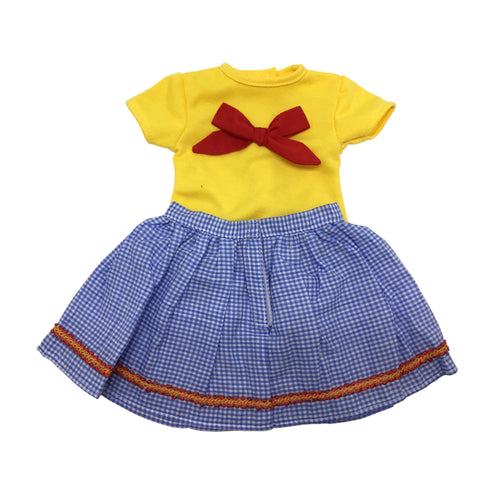 Blue and Yellow Dress for 18