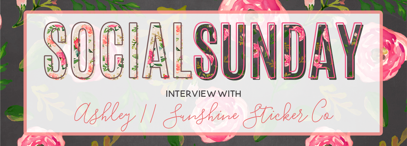 Social Sunday Interview: Ashley from Sunshine Sticker Co