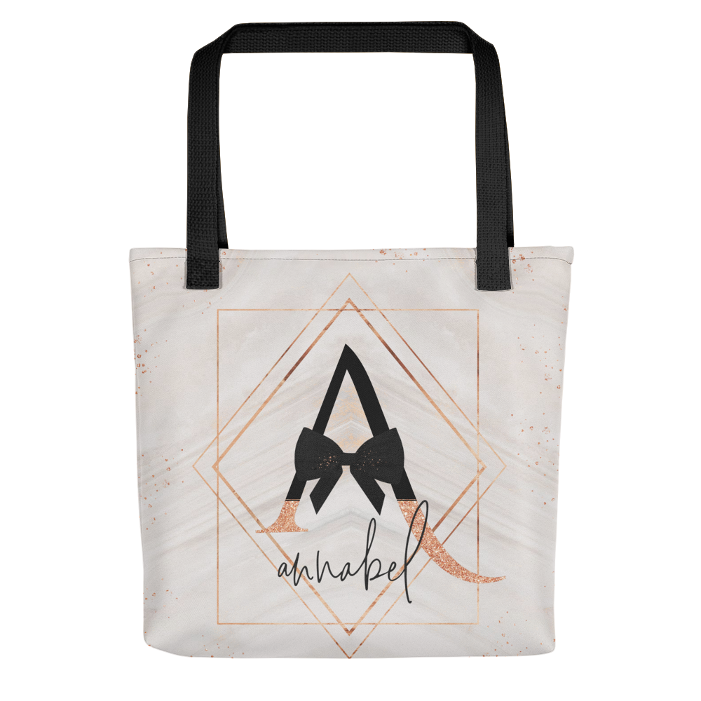 Glitter & Bows Personalized Tote bag // New Release - That Moxie Chick Studio