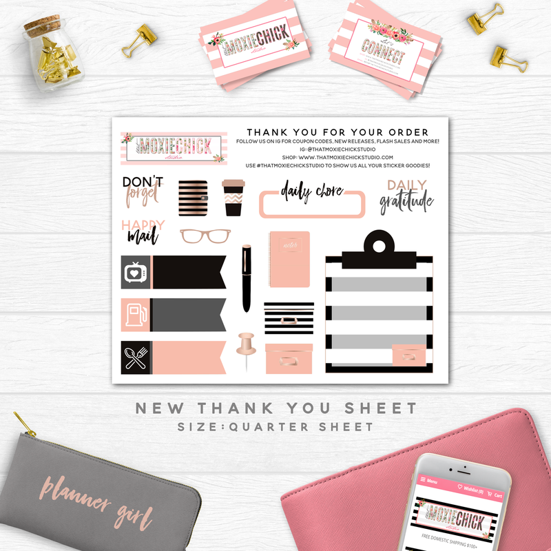 GAS NEUTRAL TRACKERS // QUARTER SHEET - That Moxie Chick Studio