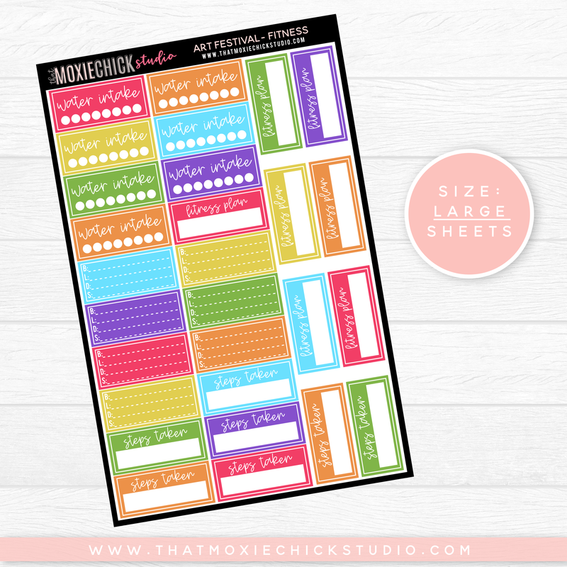 ART FESTIVAL - FITNESS SHEET // LARGE SINGLE SHEET // NEW RELEASE