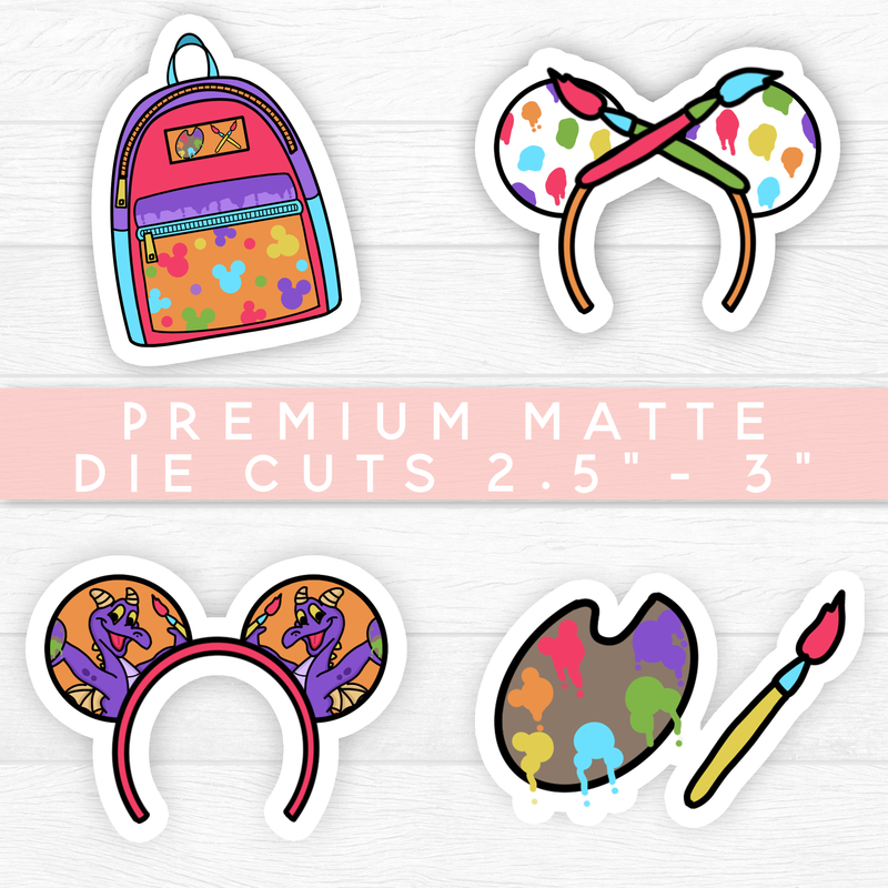 "ART FESTIVAL DIE CUTS 2.5"" - 3"" PREMIUM MATTE STICKER // NEW RELEASE"