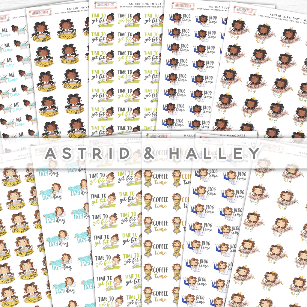 Astrid & Halley //  Character Girls - That Moxie Chick Studio