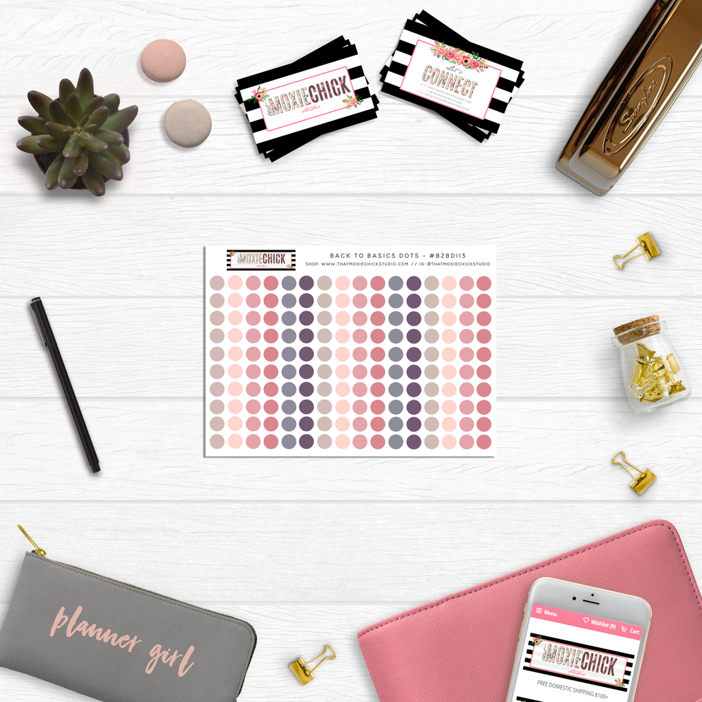 Back to Basics Dots // Series: 113 - That Moxie Chick Studio