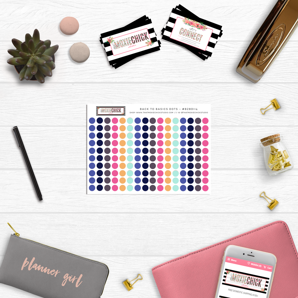 Back to Basics Dots // Series: 114 - That Moxie Chick Studio