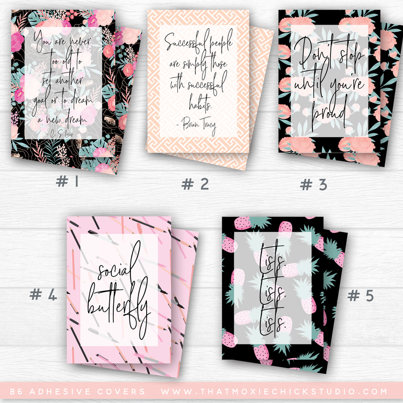 POCKET ADHESIVE COVERS Set #2 // NEW RELEASE - That Moxie Chick Studio