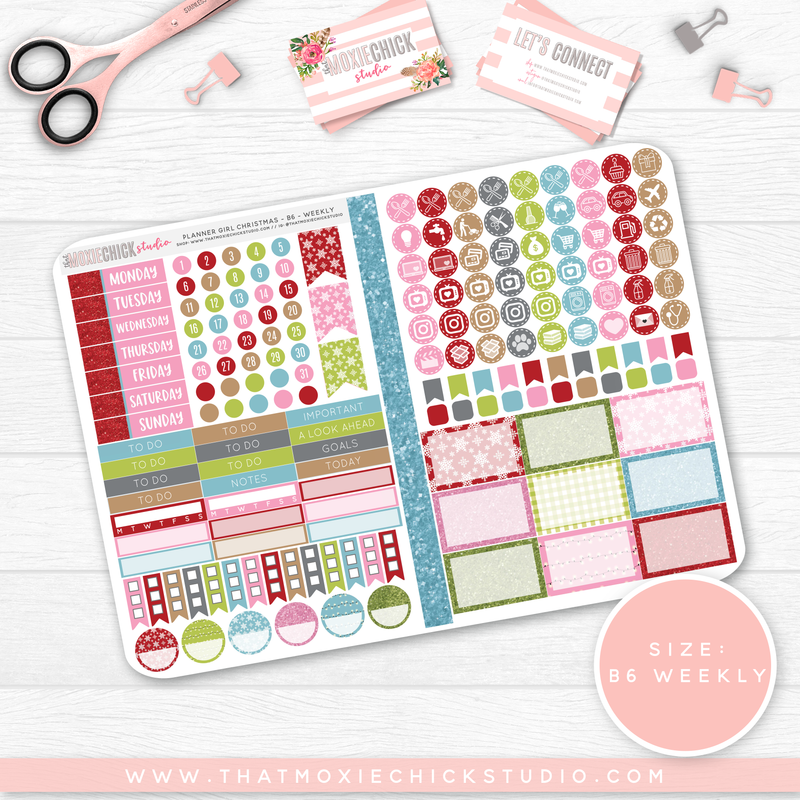 PLANNER GIRL CHRISTMAS B6 'WEEKLY' FOLDABLE // NEW RELEASE