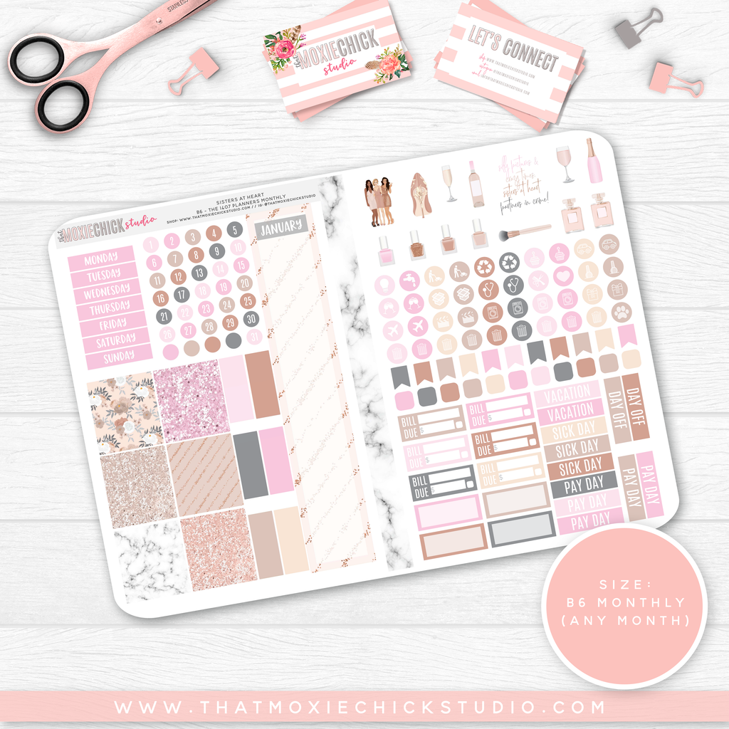SISTERS AT HEART B6 'MONTHLY' FOLDABLE // CHOOSE YOUR OWN MONTH // NEW RELEASE