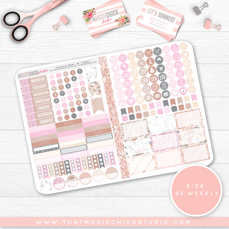 SISTERS AT HEART B6 'WEEKLY' FOLDABLE // NEW RELEASE - That Moxie Chick Studio