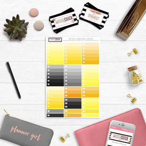 New Release // BEE GIRLS OMBRE BOXES // #BGOM6 - That Moxie Chick Studio