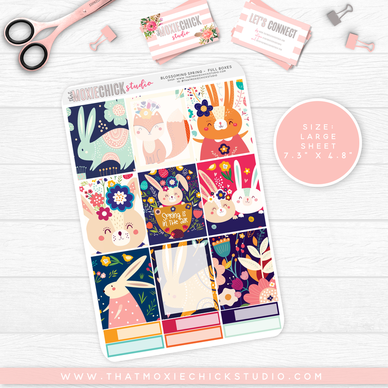 BLOSSOMING SPRING // 5 LARGE SHEETS // NEW RELEASE - That Moxie Chick Studio