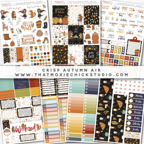 NEW RELEASE // CRISP AUTUMN AIR // LARGE SHEETS - That Moxie Chick Studio