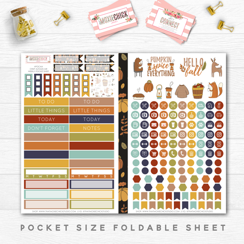 NEW RELEASE // CRISP AUTUMN AIR 'WEEKLY' // POCKET SIZE - That Moxie Chick Studio