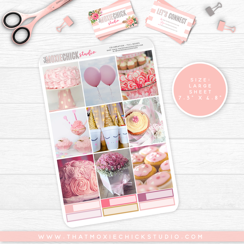 CELEBRATION // 5 LARGE SHEETS - That Moxie Chick Studio
